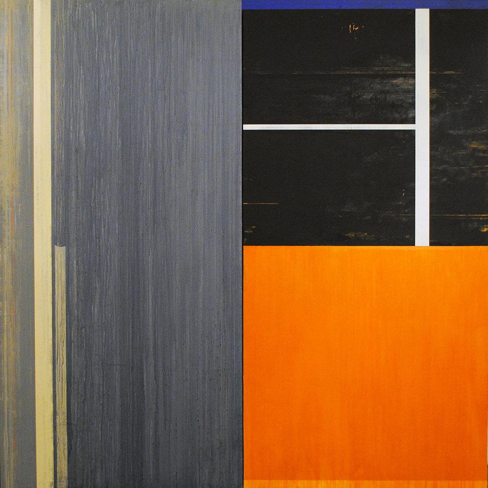 Janus XXXVII, 1988, Acrylic on canvas over panels, 72 x 72 inches.