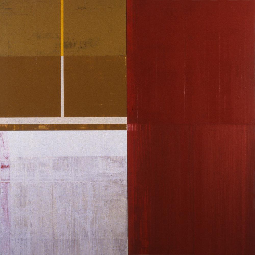 Janus XXXVIII, 1988, Acrylic on canvas over panels, 72 x 72 inches.