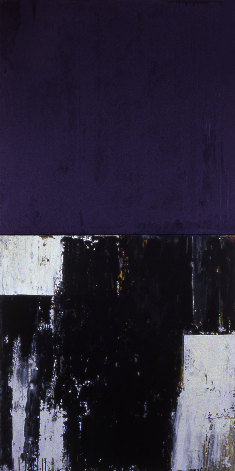 Pile, 1991, Acrylic on canvas over panels, 72 x 36 inches.