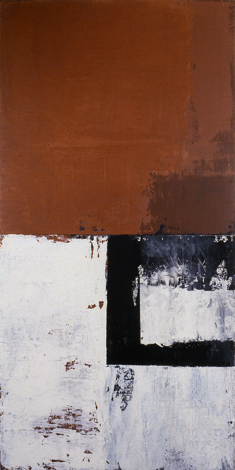 Post & Lintel, 1991, Acrylic on canvas over panels, 48 x 24 inches.