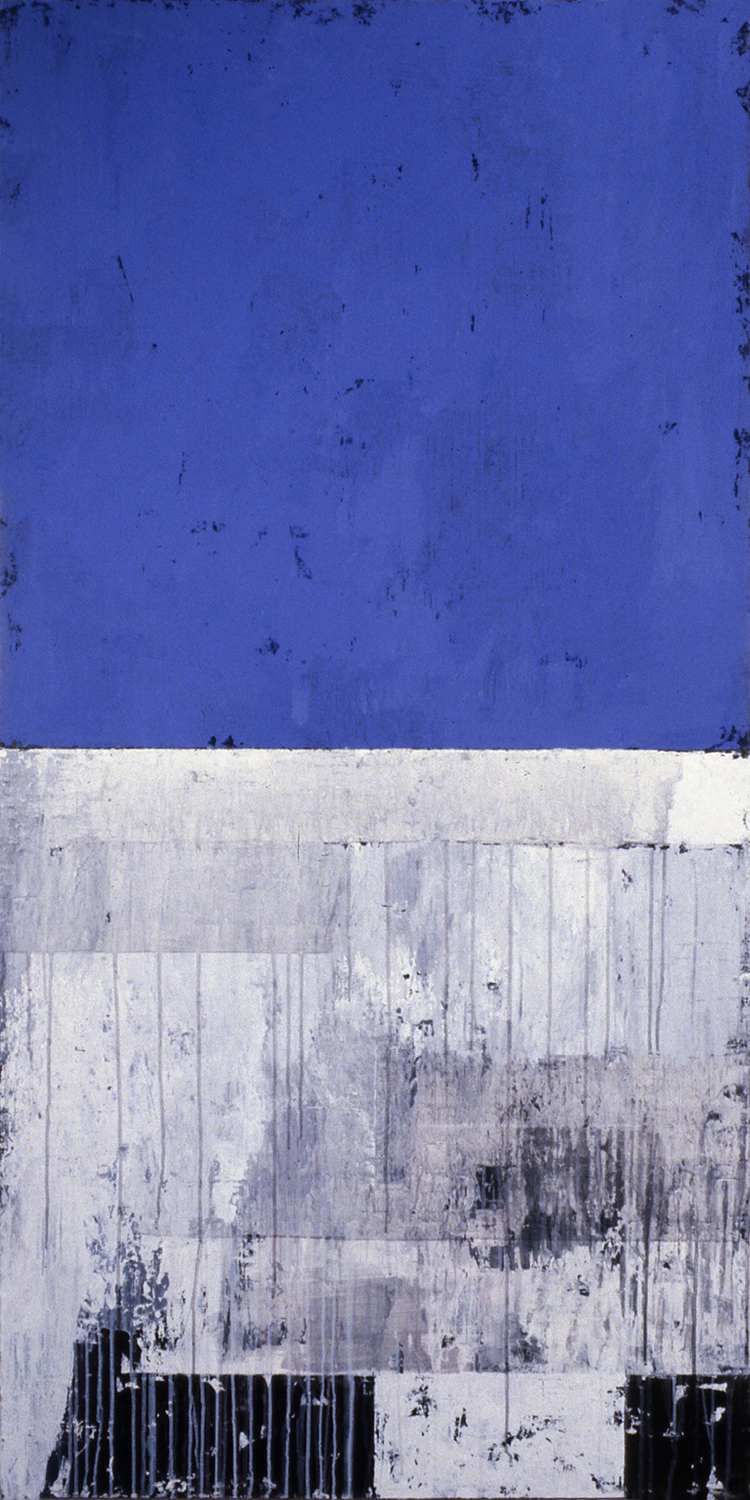 Two Pair, 1991, Acrylic on canvas over panels, 72 x 36 inches.