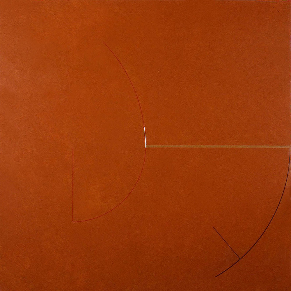 Pitch, 1985, Acrylic on canvas, 66 x 66 inches.
