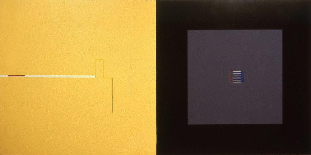 Zero, Time Zero, 1984, Acrylic on canvas, 60 x 120 inches.