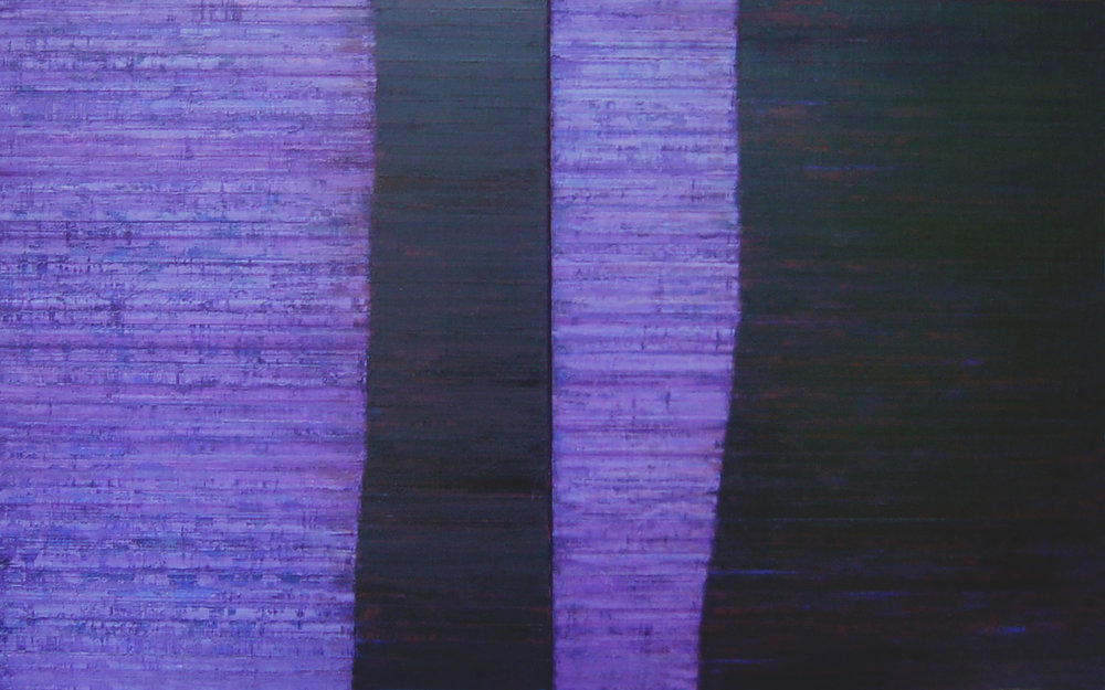 Linea Terminale: 5.09, 2009, Oil on linen over panels, 20 x 36 inches