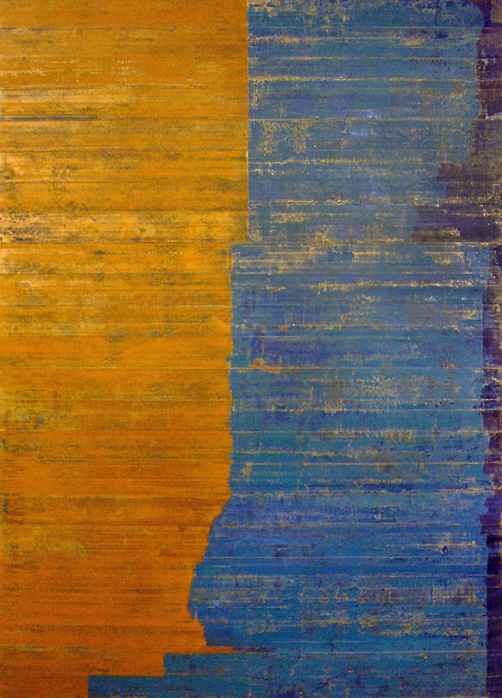 Territory Blue, 2007, Oil on linen over panel, 68 x 48 inches.
