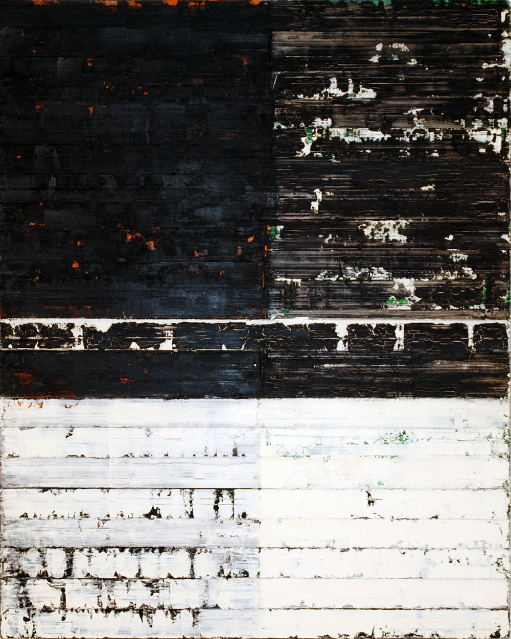 ISIS 18: Perimeter, 2010, Oil on canvas over panel, 20 x 18 inches.
