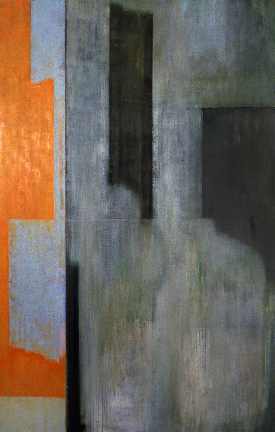 Shield, 1997, Oil, acrylic on canvas over panels, 72 x 48 inches.