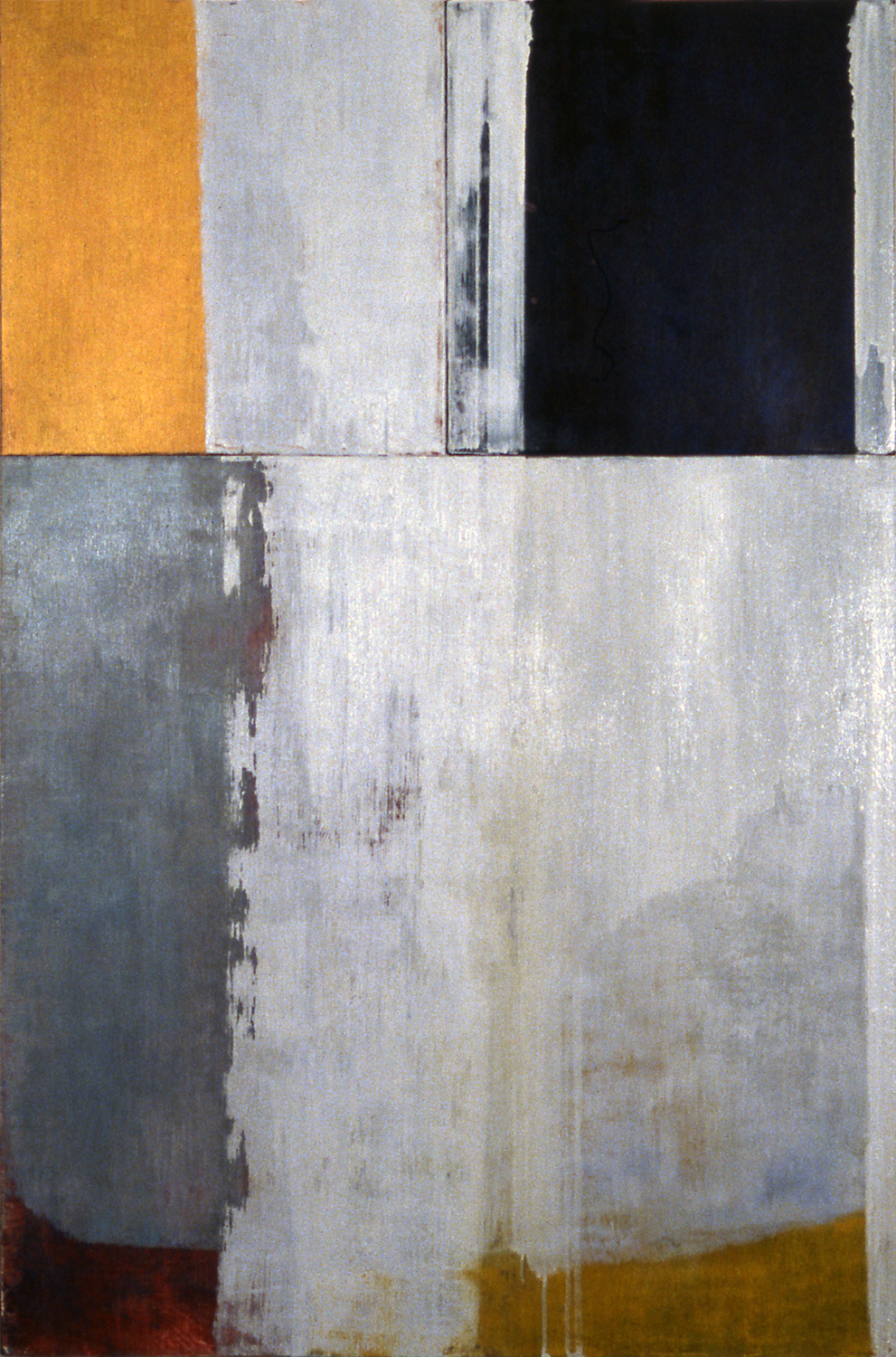 Quarter, 1997, Oil, acrylic on canvas over panels, 36 x 24 inches.