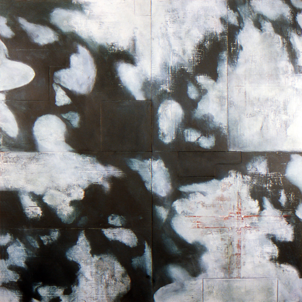 Dark Star, 1995-2002, Oil, enamel, acrylic on wood panels and canvas, 72 x 72 inches