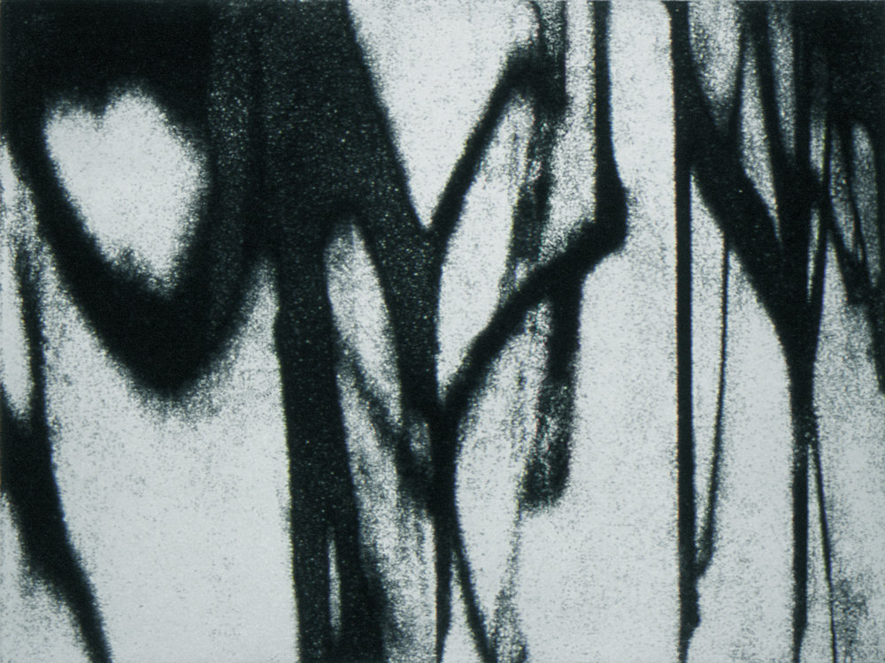 Landscape 1, 2002, Etching, 9 x 12 in. (on 30 x 23.5 in. BFK Rives)