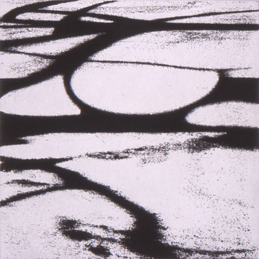 Landscape 3, 2002, Etching, 9 x 9 in. (on 30 x 23.5 in. BFK Rives)