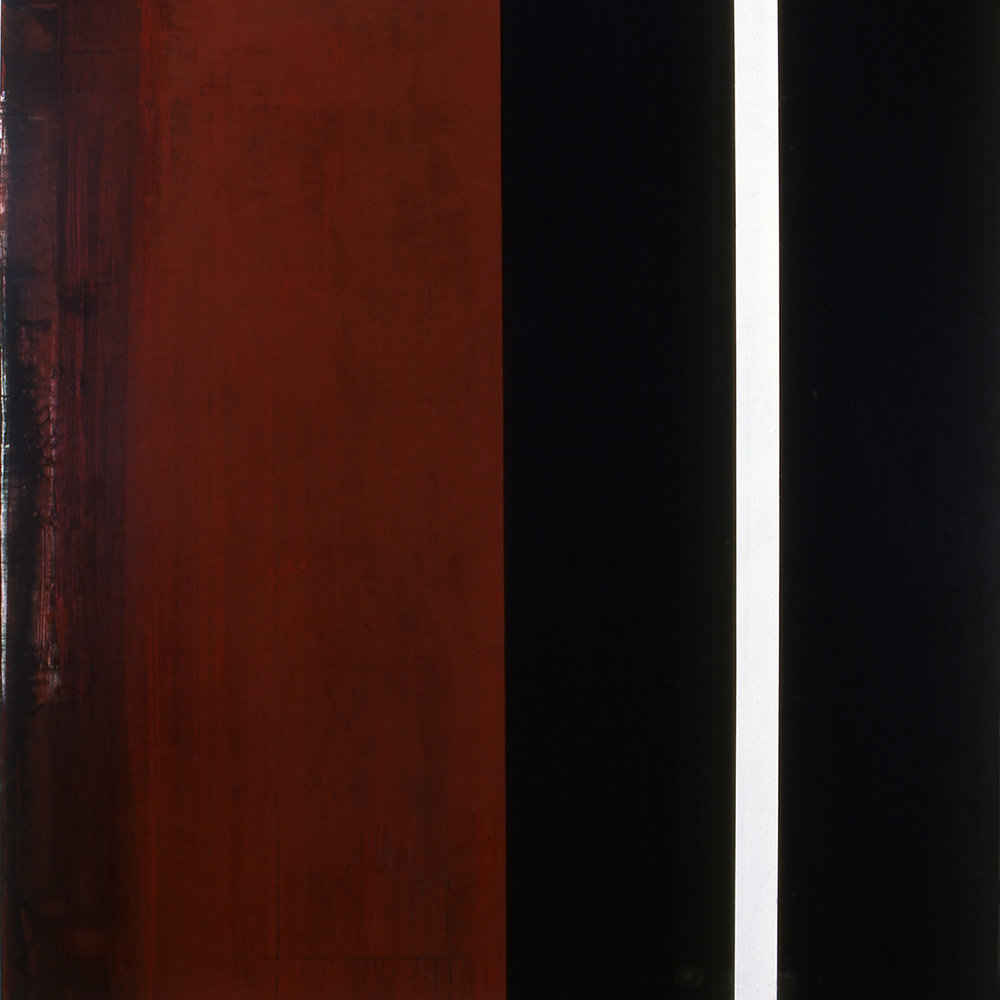 Janus XXIV, 1987, Acrylic on canvas over panels, 48 x 48 inches.