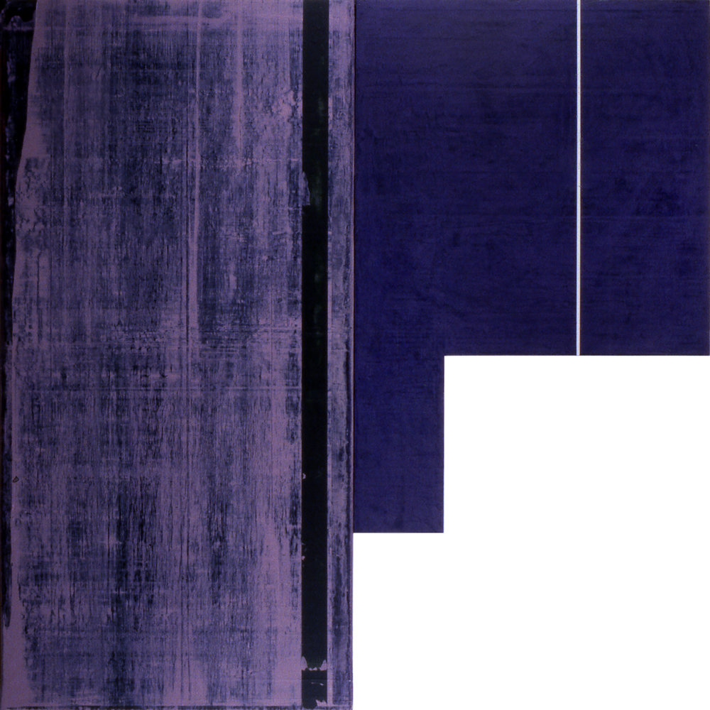 Divided Square 57, 1989, Acrylic on canvas over panels, 48 x 48 inches.