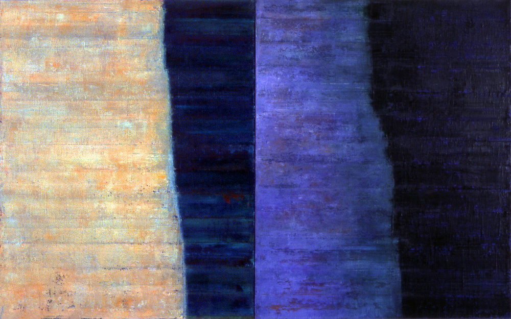 Linea Terminale: 5.06, 2006, Oil on linen over panels, 20 x 36 inches.