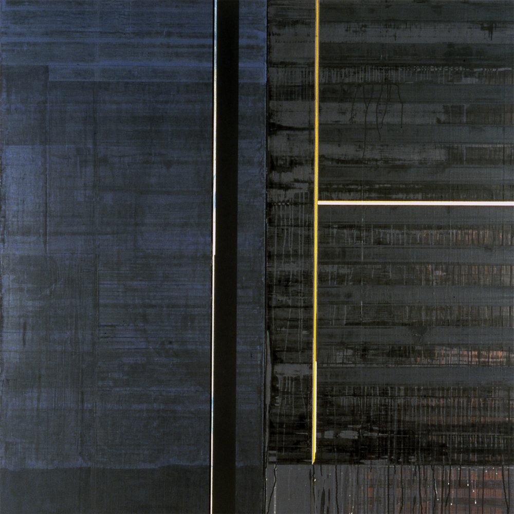 Divided Square 50, 1989, Acrylic on canvas over panels, 72 x 72 inches.