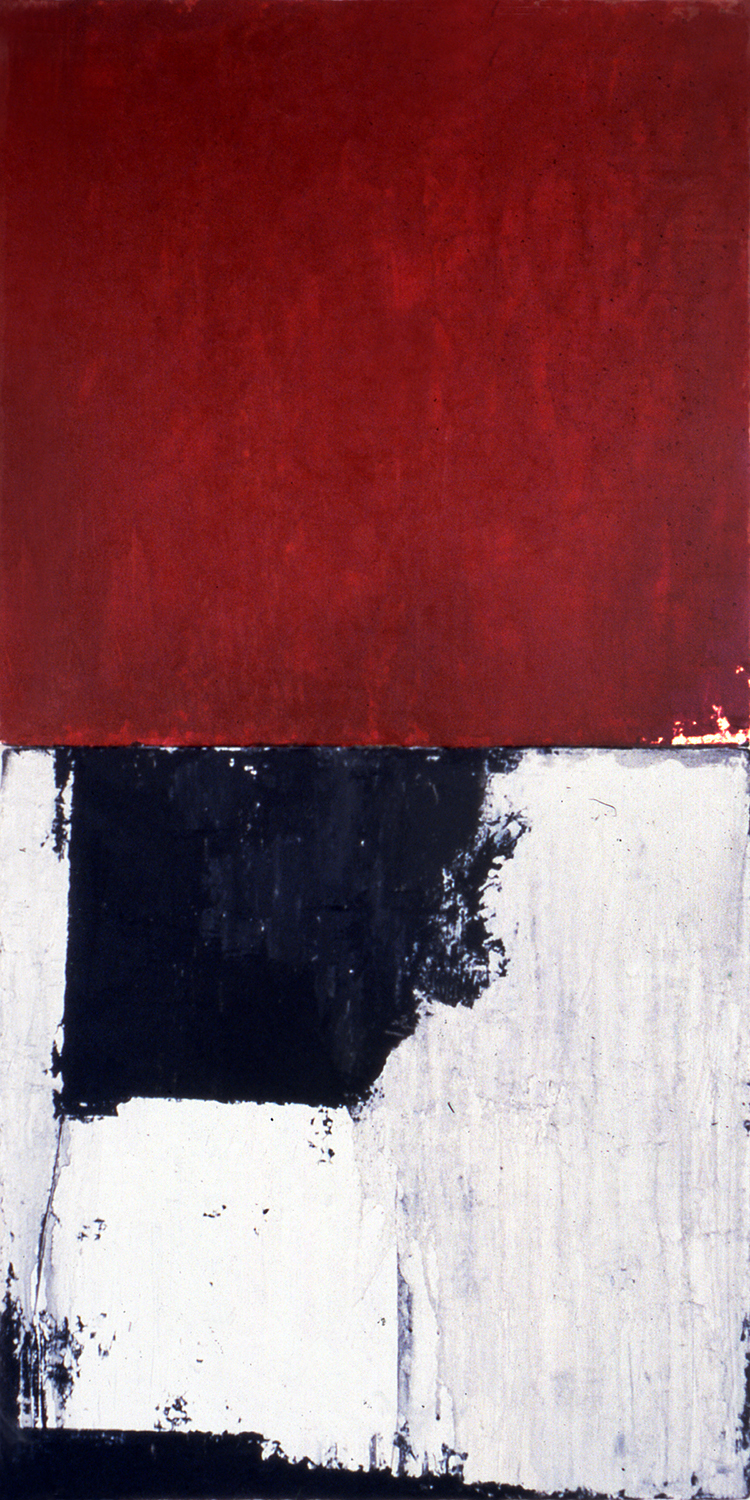 Deuce, 1991, Acrylic on canvas over panels, 48 x 24 inches.