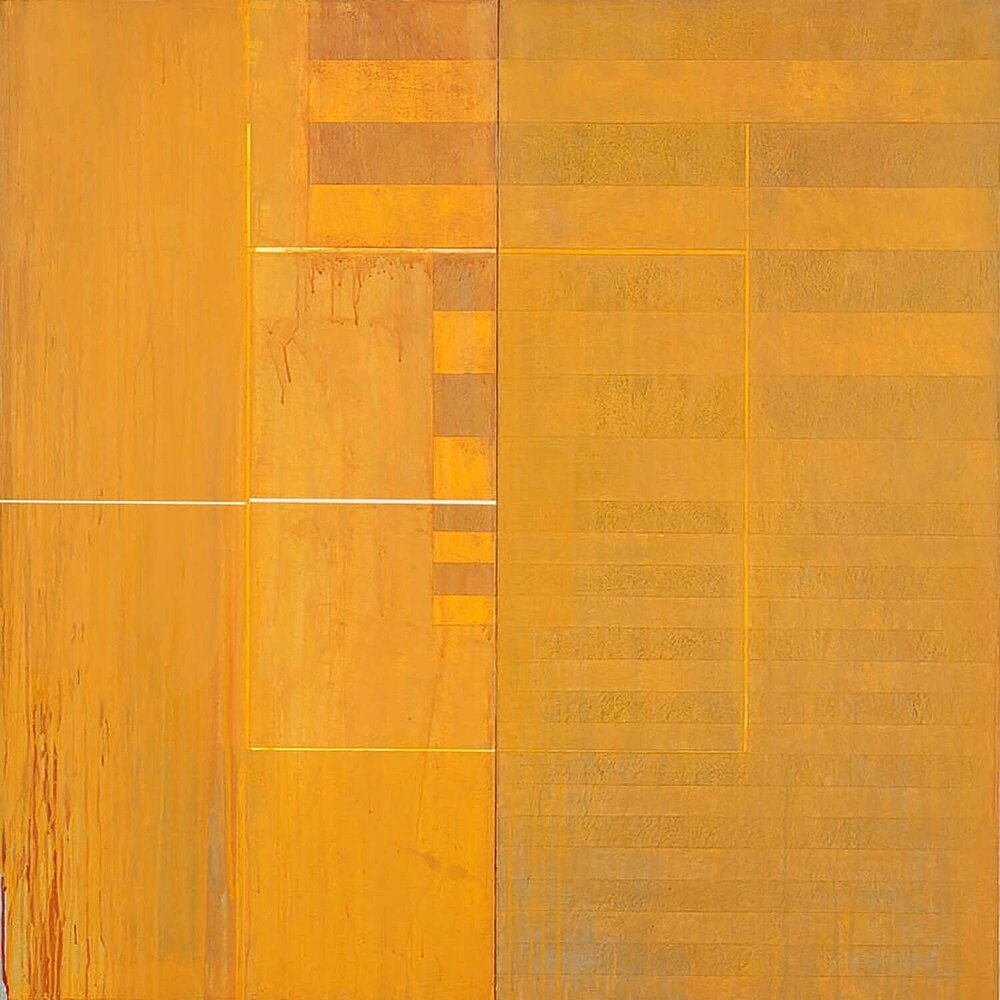 Divided Square 48, 1989, Acrylic on canvas over panels, 48  x 48 inches