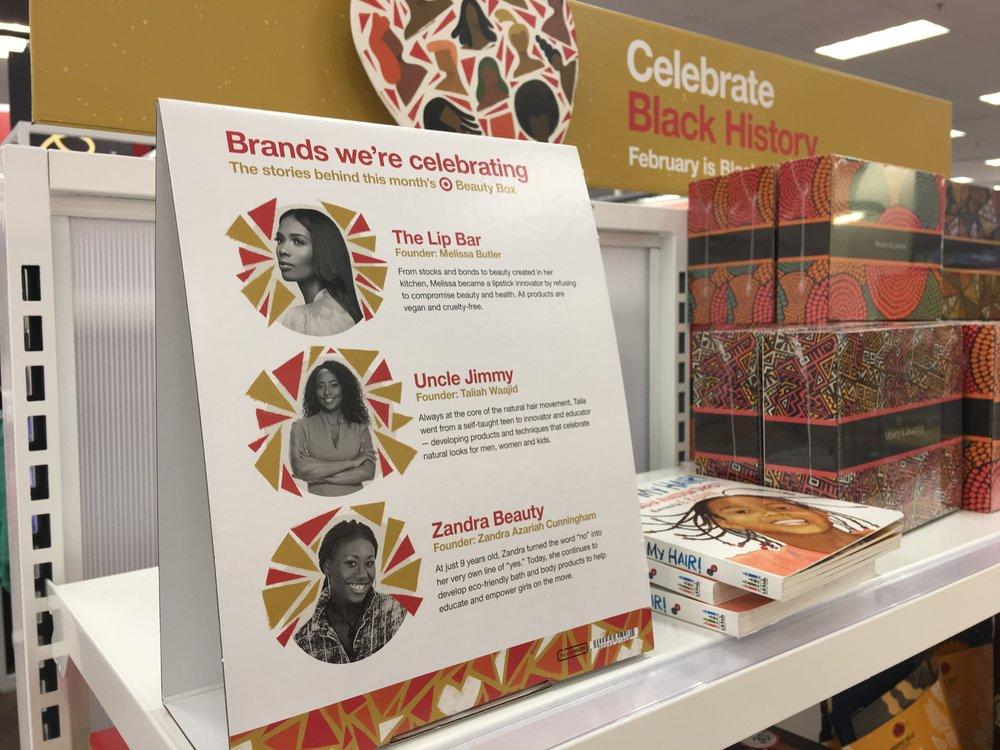 Celebrate Black History Month Display at Target
