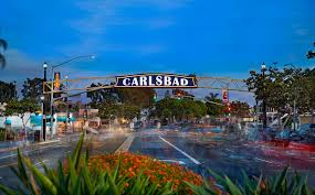 CARLSBAD  - village treelined street with ocean breezes, beach bike rentals, breweries and shops