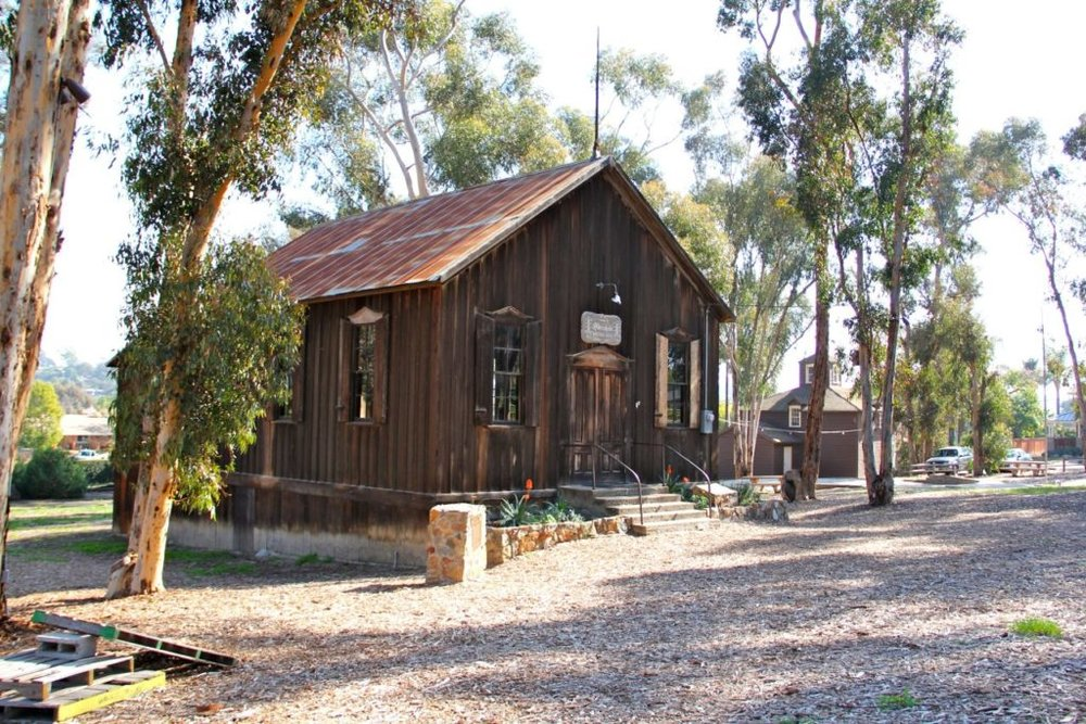 OLIVENHAIN - the old timey olivenhain meeting house built by german colonists who settled there in 1884,