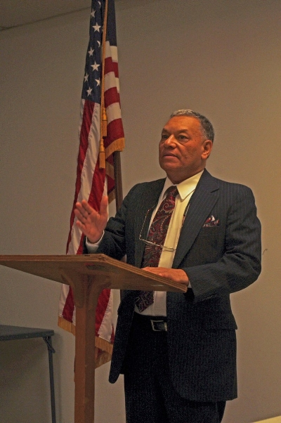 Dr. Israel Romero addresses the Lancaster County Democratic Party