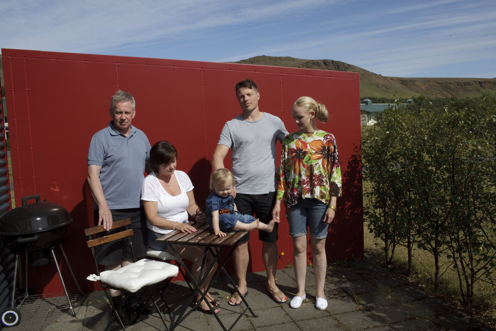 A family portrait in Hveragerði