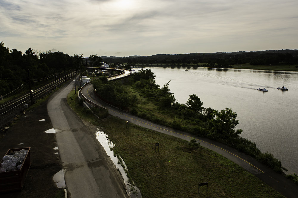 Founded in 1945, Seafarers Yacht Club, is situated in southeast D.C., which has long been underdeveloped. The club lies at the end of a rugged asphalt road, framed by train tracks on the left, and the historically polluted Anacostia River on the right.