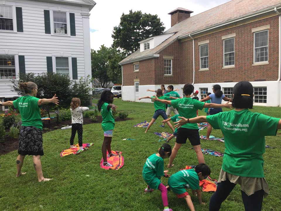 Cultivating Care for ourselves, a little meditation and yoga beside our newly installed prayer garden - VBS 2018