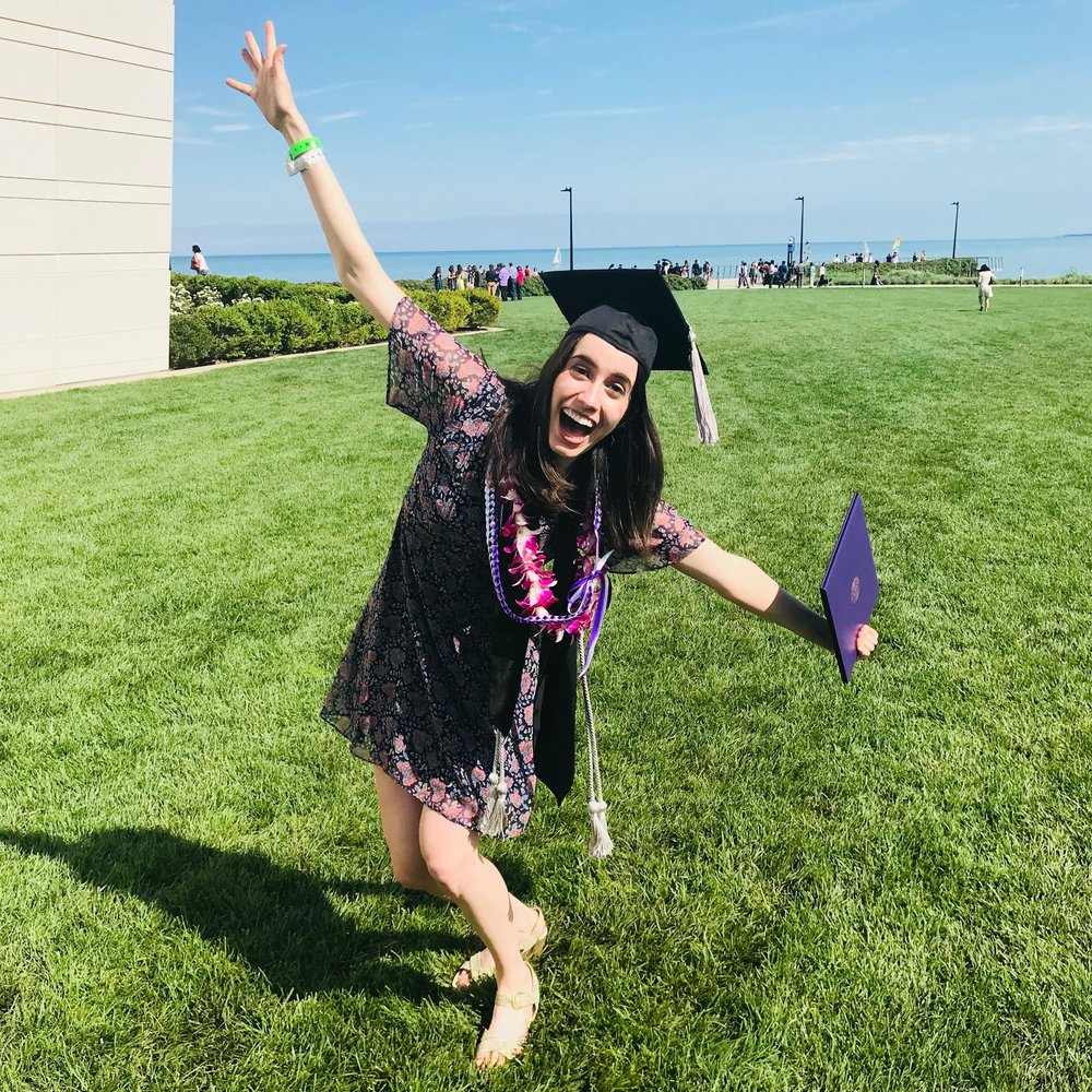 Northwestern University Graduation - (Posted June 2018)——————————Amy graduated Magna Cum Laudefrom the School of Communicationwith a BA in Theatre and a modulein Theatre for Young Audiences.GO 'CATS!