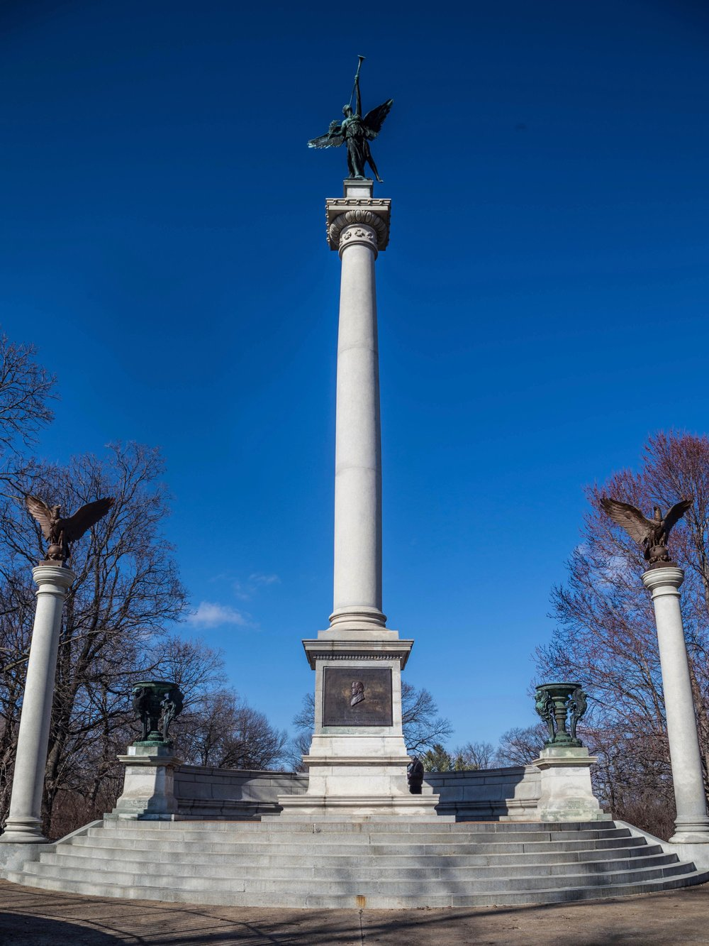 The Lovejoy monument in Alton. (One Illinois/Zach Sigelko)