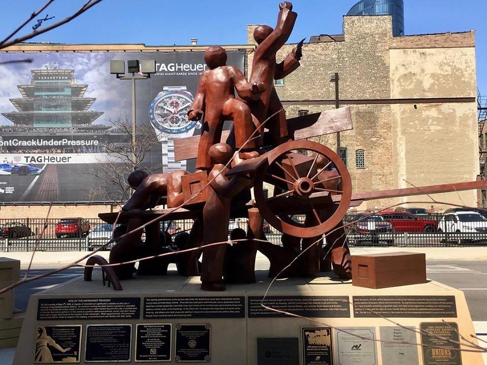 Mary Brogger's Haymarket memorial at 175 N. Desplaines St. (Facebook/Aimee Levitt)