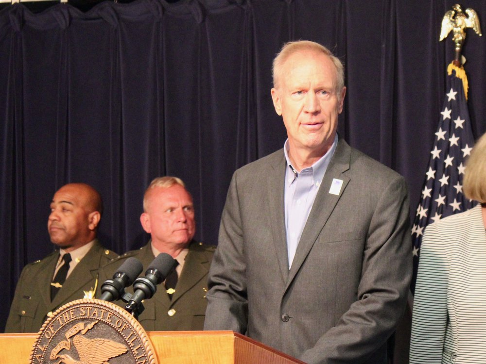 """We want to make sure there is no election tampering and no election fraud,"" says Gov. Rauner. (One Illinois/Ted Cox)"