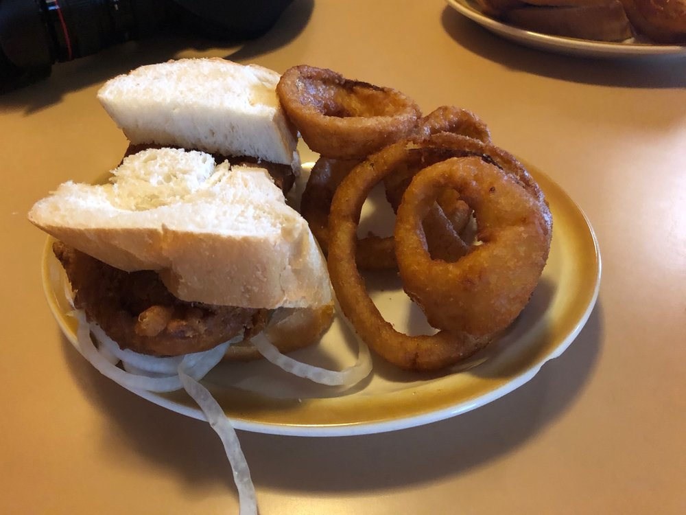 The fish sandwich and onion rings at Marko's: best in the state? (One Illinois/Ted Cox)