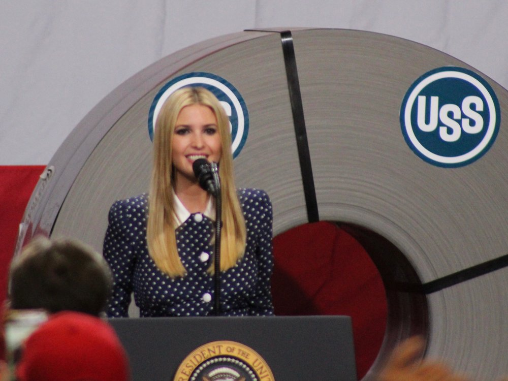 Ivanka Trump returns to Illinois Wednesday after joining her father in Granite City last month. (One Illinois/Ted Cox)