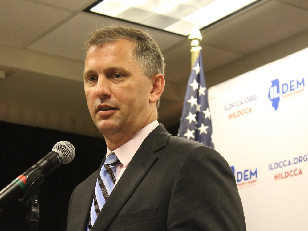 Congressional candidate Sean Casten is standing by his support of LGBTQ activist Dan Savage. (One Illinois/Ted Cox)