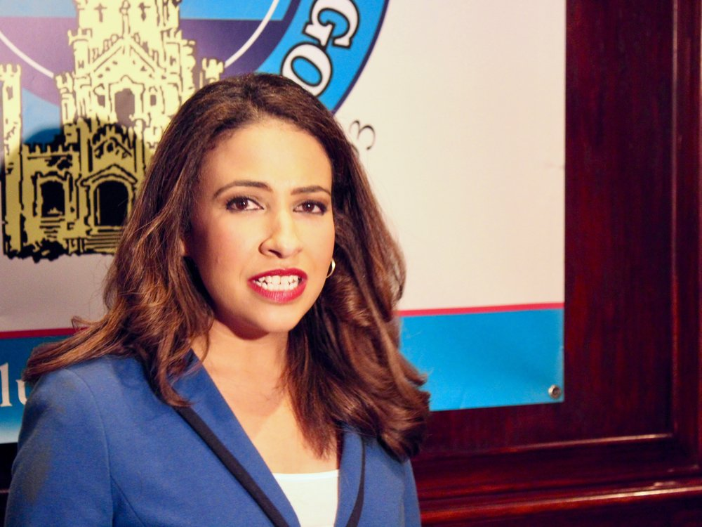 """""""I believe that the job of the attorney general is to enforce the law and make sure that everyone is protected from discrimination."""" - Erika Harold"""