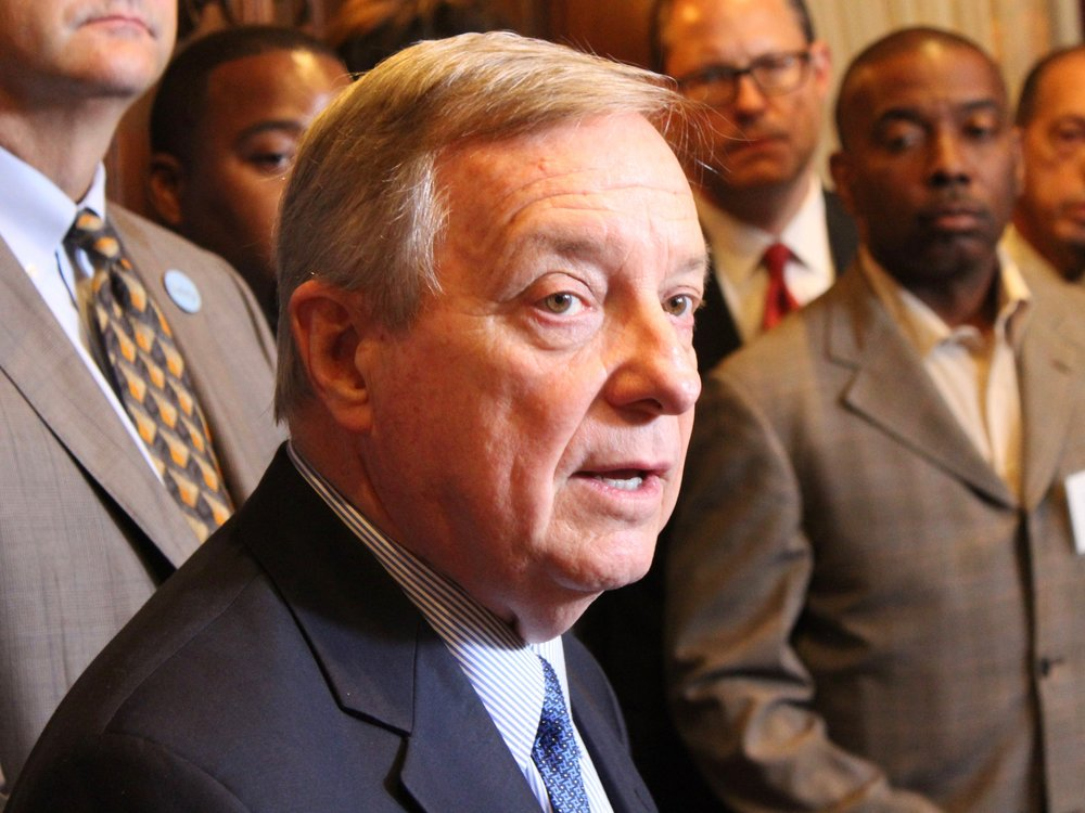 "Sen. Dick Durbin said Illinois members of Congress ""plan to hold the EPA accountable every step of the way"" on emissions of ethylene oxide. (One Illinois/Ted Cox)"