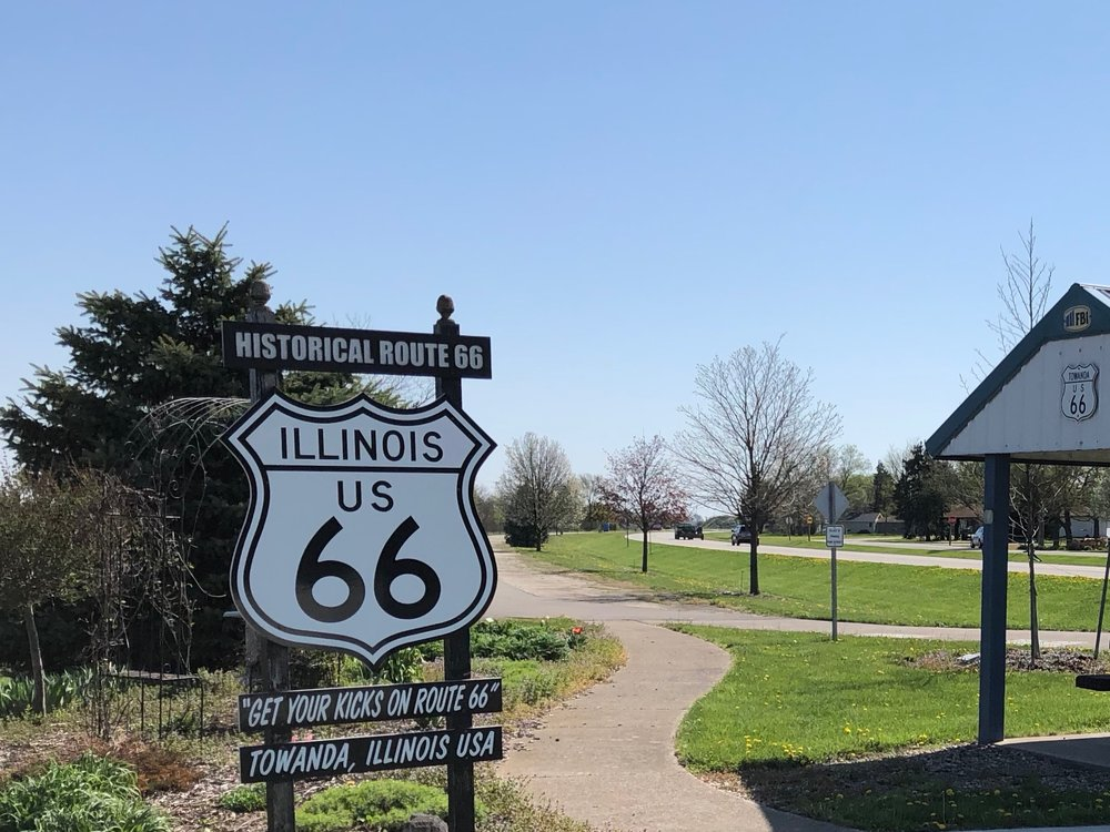 Still celebrated today, U.S. Route 66 winds through Illinois past all-but-forgotten towns like Towanda. (One Illinois/Ted Cox)