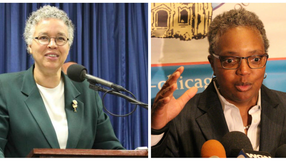 Cook County Board President Toni Preckwinkle and former Chicago Police Board President Lori Lightfoot will face off in the Chicago mayoral runoff April 2. (One Illinois/Ted Cox)