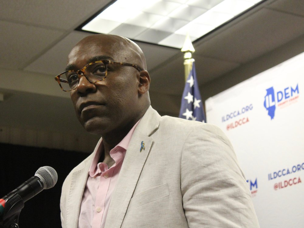 "Illinois Attorney General Kwame Raoul joined Tuesday in filing suit against a ""gag rule"" imposed on Title X health funding. (One Illinois/Ted Cox)"