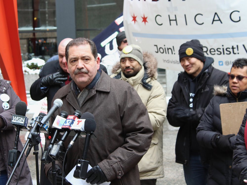 """U.S. Rep. Jesus """"Chuy"""" Garcia says a proposed question on U.S. citizenship threatens to skew the 2020 Census. (One Illinois/Ted Cox)"""