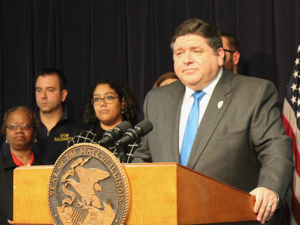 Gov. Pritzker granted overdue raises to workers Monday that were approved by the General Assembly under the Rauner administration. (One Illinois/Ted Cox)