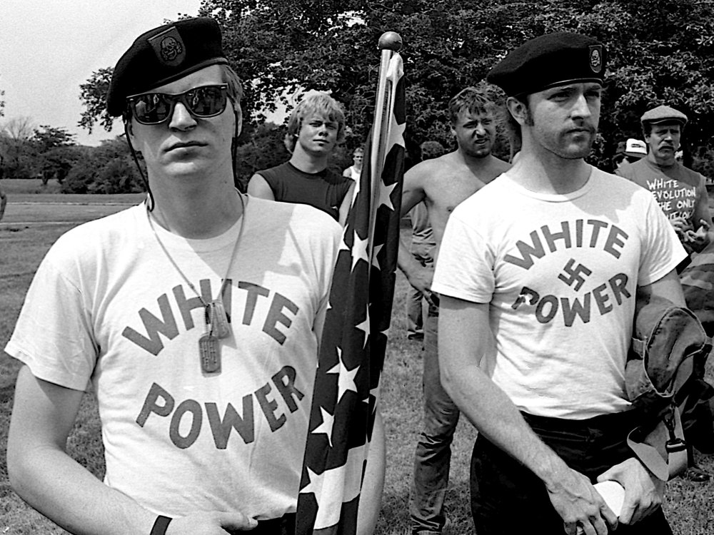 White supremacists march at a 1986 Ku Klux Klan rally in Chicago. (Shutterstock)