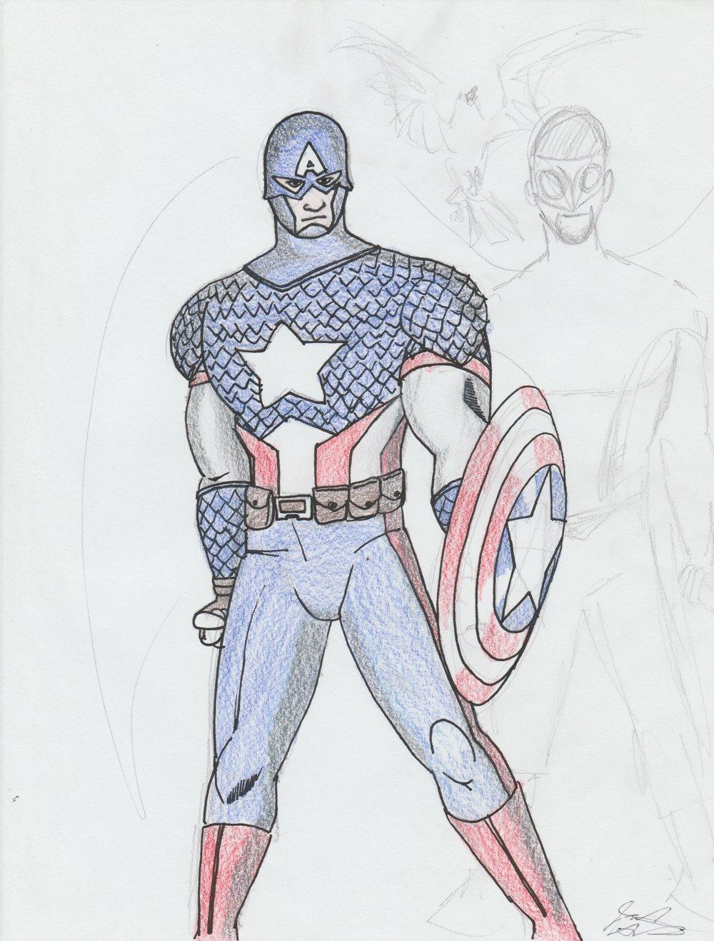Captain America Costume With A Slight Re-Design