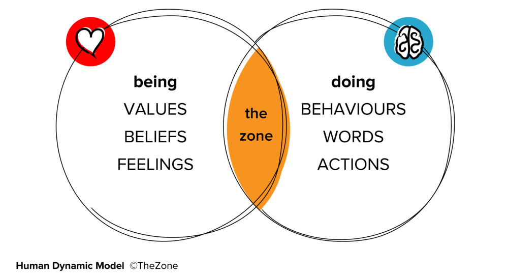 the zone is the space where happiness and high performance co-exist.  - We believe in making organisations more human and for this to happen we should not have to trade one for the other.