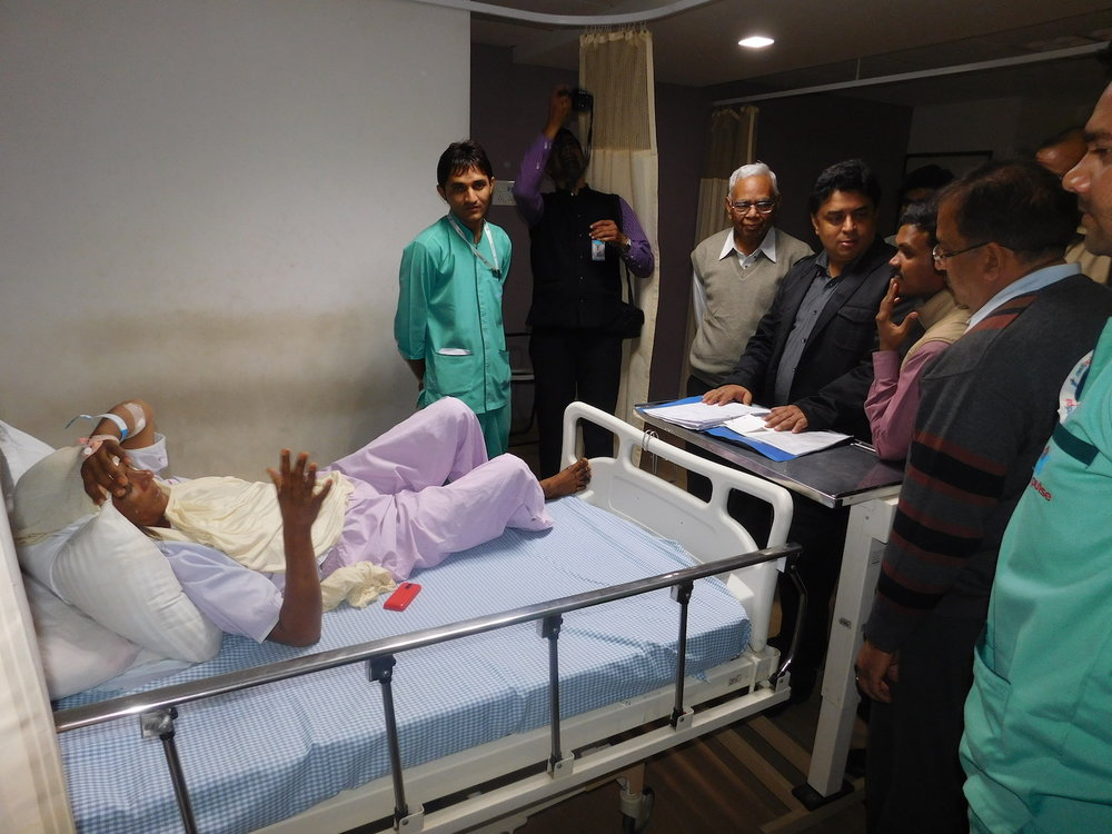 RBSK Mission Director and Bhamashah Swasthya Bima Yojna CEO - Shri Naveen Jain during his visit to Medipulse