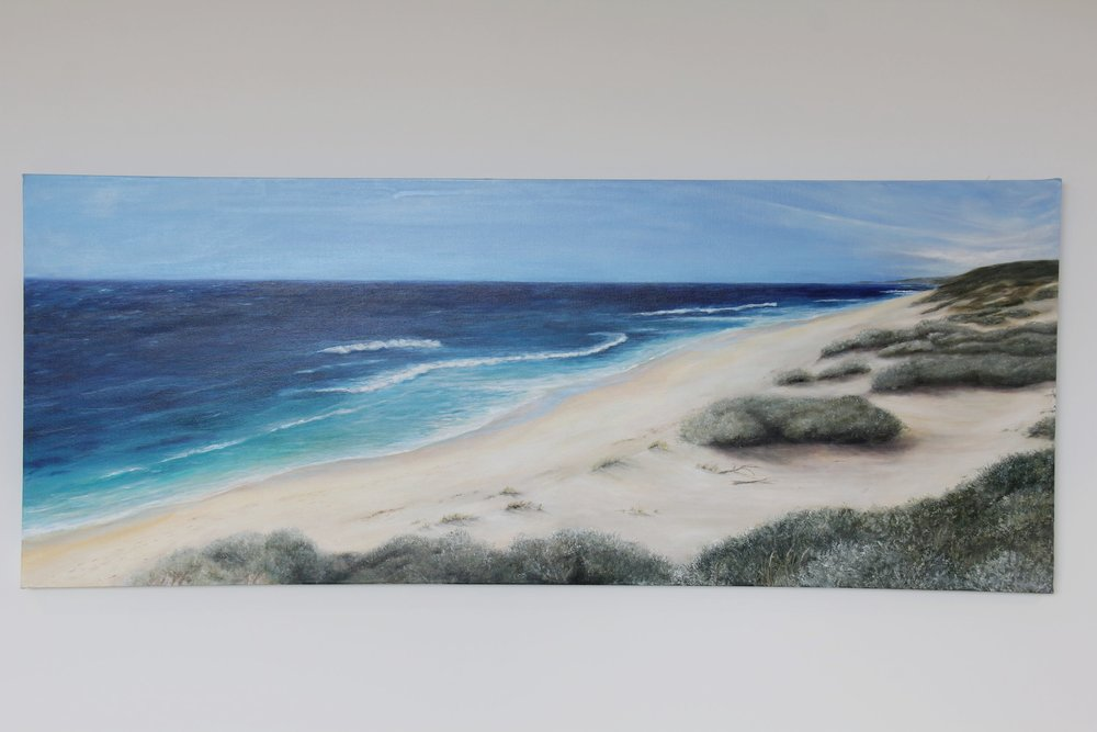 View North from Gallows - Acrylic on canvas, 1520 x 610mm