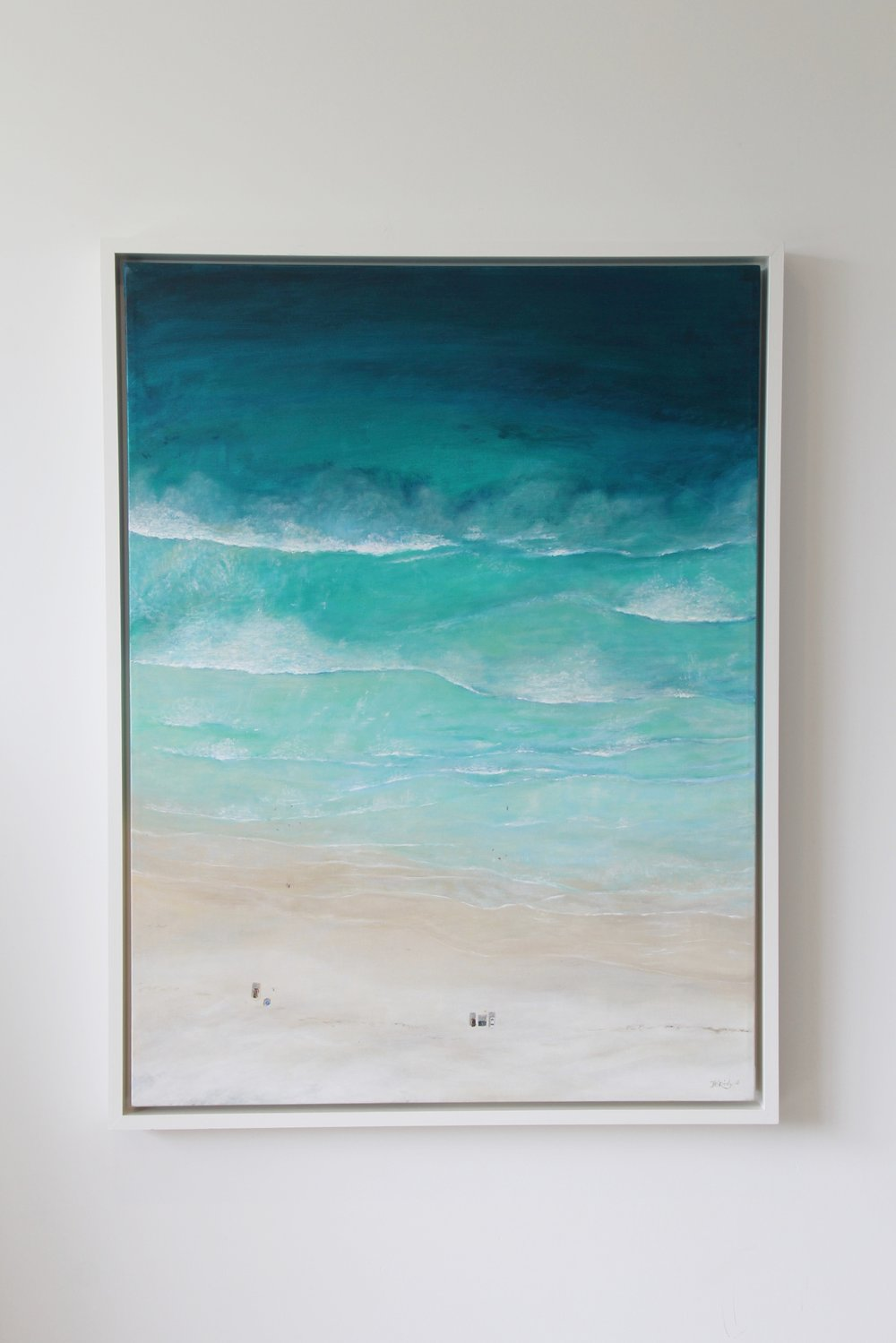 Beach Day at North Wedge - SOLD $800Acrylic on canvas and framed in a custom floating frame. 1075 x 820