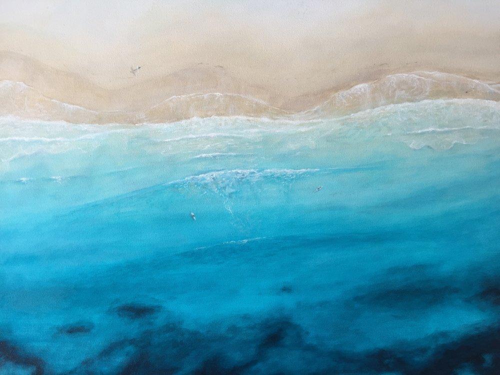 Early Morning Surf - SOLD $340Acrylic on canvas, 760 x 610