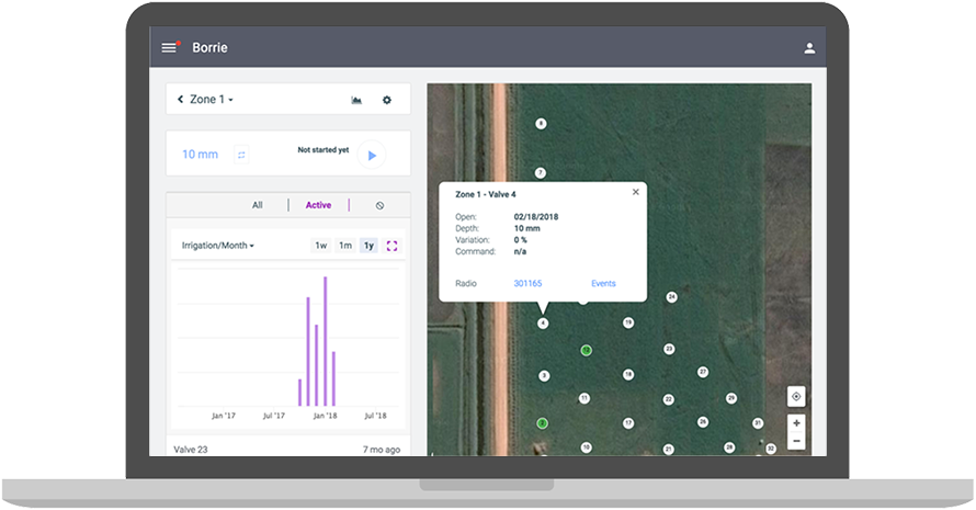 The Irrigation Controller provides a high degree of flexibility. You can schedule changes with the click of a mouse.